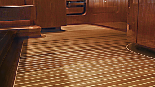 Maritime Cabin Sole Flooring Custom Yacht Interior Solid