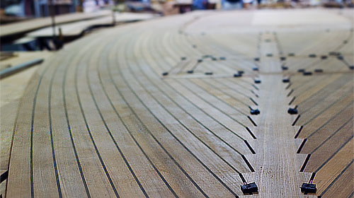 Maritime custom teak decks deck panels decking