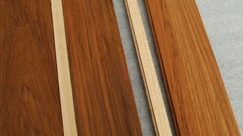Holly and Teak Interior Flooring Samples